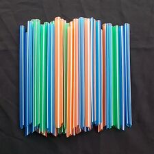 Neon Plastic Drinking Jumbo Straws Bubble Milk Tea 50 pcs Big Hole 3/8 in New