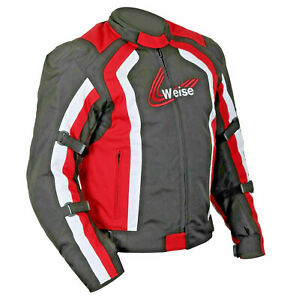 WEISE CORSA TEXTILE WATERPROOF SPORTS BLACK / RED JACKET SIZE XL RRP: £119.99