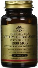Sublingual Methylcobalamin (Vitamin B12), Solgar, 60 nuggets 1000 mcg