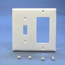 Cooper White Unbreakable Switch Plate Decorator GFCI GFI Cover Wallplate 5153W