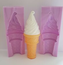 3D ICE CREAM SILICONE MOULD FOR CAKE TOPPERS, CHOCOLATE, CLAY ETC