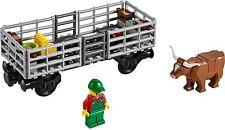 LEGO Train Cattle Truck Farmer Wagon Railway Carriage From Cargo City Set 60052
