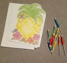 Pineapple Card Stationary Set