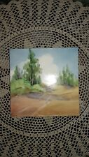 "Hand Painted Artist Tile by West Coast Tile Co. 6"" x 6"" , CALIFORNIA POTTERY"