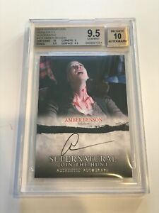 2014 Cryptozoic SUPERNATURAL Signed AMBER BENSON Autograph BGS 9.5 Buffy AUTO 10