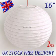 "2 X 16"" White Chinese/Japanese Paper Lantern Lampshade Wedding Party Decoration"