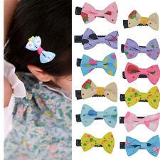 10 lot Toddler cute Girl Hair Clip Ribbon Bow Baby Kids Satin Bowknot Headband