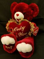 """19"""" DAN DEE W/ Tag Plush Sweetheart Teddy Bear 2007 Only You Bear Red Valentines"""