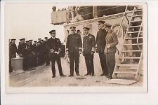 Vintage Postcard King George V of the United Kingdom & Naval Commanders