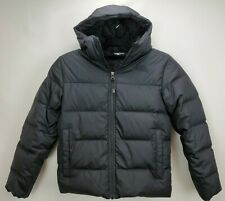The North Face 550 Down Puffer Jacket Coat Boys Size Medium 10 12 Black Hooded
