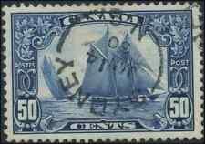 Canada #158 used XF 1929 Scroll 50c drk blue Bluenose Sydney,NS SON CDS  CHOICE!
