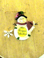 THE UNIQUE COLLECTION SNOWMAN PHOTO CHRISTMAS TREE ORNAMENT. SNOWFLAKE HAS 2007