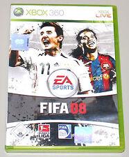 FIFA 08-PER XBOX 360-EA SPORTS CALCIO FOOTBALL SOCCER lega federale 2008