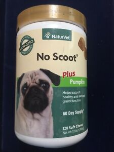 No Scoot Plus Pumpkin Helps Support Anal Sac and Gland Function 120ct. (13)
