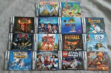 Lot of 14 Gameboy Advance Instruction Booklets Manuals ONLY