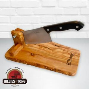 Olive Wood 'Biltong' Cutter / Chopping Board - Kitchen, Gift, Africa