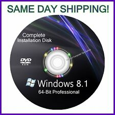 Windows 8.1 64 bit Pro bit install reinstall recovery repair DVD Disc Support