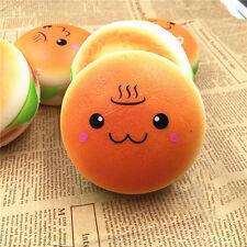 Cute10cm Squishy Hamburger Emoji Bread Slow Rising Phone Bag Strap Charm Keyring
