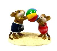 Wee Forest Folk  M-279  Having a Ball  Navy/Rose Beach Retired With Box