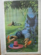 Puss in Boots vintage Poster 1970's cat kitty in#G4507
