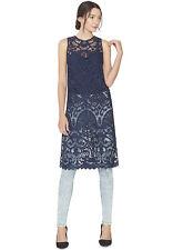 NEW Alice + Olivia Kelissa Lace Tunic- Sapphire size XS $330