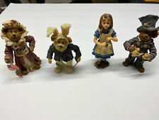 Boyds Bears Alice In Wonderland Shoe Box Collection 4 Figurines