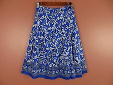 SK05863- NEW INVESTMENTS Woman 100% Cotton Pleated Flared Skirt Multi-Color Sz 6