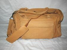 Men's Genuine Leather Large Vintage Duffel Weekender Overnight Travel Bag Clean!