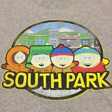 South Park XXL Gray T-shirt Sitcom Cartman Kenny Stan Kyle Cartoon TV Show