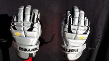 """Harrow Sabre LaCrosse Gloves, 12"""", Silver & Black"""