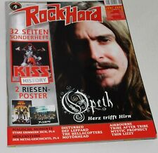 KISS Band Rock Hard Magazine 2008 Germany Kiss Insert Mag + Kiss Love Gun Poster