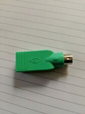 PS2 Male to USB Female Mouse Converter Connector Coupler Adapter Lime Green