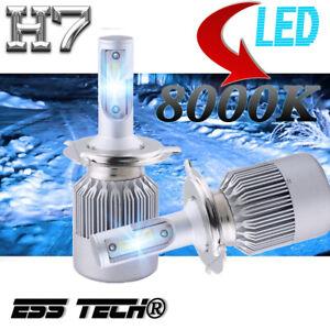 Ampoule LED H7 Bleu Feu Avant Tuning 8000K Lampe 12V ESS TECH® 6000LM X2 Pieces