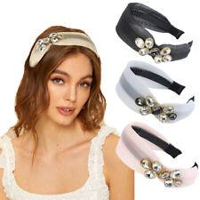 Fashion Women's Side Crystal Headband Mesh Wide Hairband Hoopa Hair Accessories