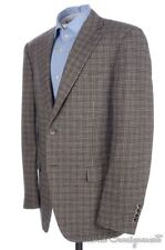 CANALI Recent Brown Plaid Check CASHMERE WOOL Blazer Sport Coat Jacket - 42 L