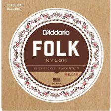 D'Addario EJ34 80/20 Bronze/Black Nylon Trebles Guitar Strings
