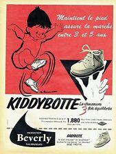 Publicité Advertising 067  1957  Beverly bottines bébé Kiddybotte par Rousseau