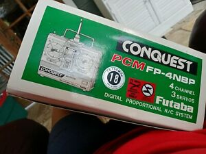 Vintage Futaba Conquest 5 CH PCM Transmitter FP-T4NBP, most still wrapped, w/box