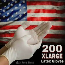 200pc - 2 Boxes X-Large Latex Gloves Powder Free (Nitrile + Vinyl Free Gloves)