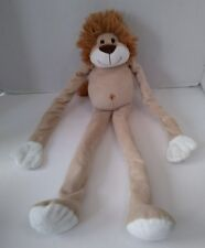 """Beige & Gold Plush Lion Hanging Sticky Hands Soft Stuffed Toy 21"""""""