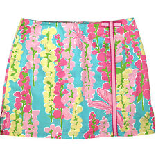 Lilly Pulitzer Snapdragon Dragonfly Skort Skirt, Blue Pink Yellow Floral, Sz 4