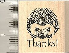 Thank you hedgehog rubber stamp D7823 WM