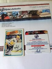 Mario Lemieux VINTAGE HAND SIGNED ON CARD 1988 Topps GLOBAL AUTHENTICS COA RARE