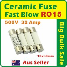 10 x 32 Amp RO15 Ceramic Fuse Fast Blow 10x38mm RT18 RT14 gG 500V R015