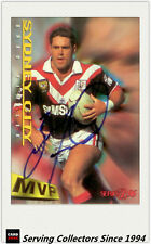 1996 Dynamic Rugby League Series 2 MVP Autographed Card --BRAD FITTLER