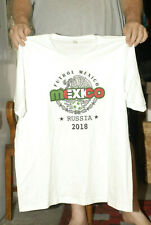 MEXICO NATIONAL TEAM SOCCER T SHIRT RUSSIA 2018 WORLD CUP 2XL MINT