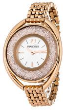 Swarovski Crystalline 37x43mm Quartz Oval Rose Gold Tone Ladies Watch 5200341