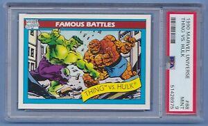 1990 Marvel Universe #88 Thing vs Hulk PSA 9 Mint series 1