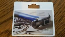 Collectible NO ZERO CASH VALUE LOWE'S Gift Card HAMMER & NAILS 2018 Re Loadable