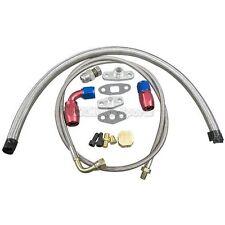 Universal Turbo Oil Line Kit Feed + Return Drain 4AN 10AN T3 T4 T76 Oil Pan Plug